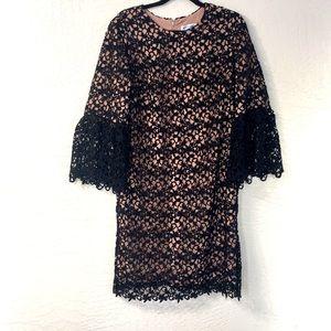 DRESS THE POPULATION lace dress MELODY ILLUSION